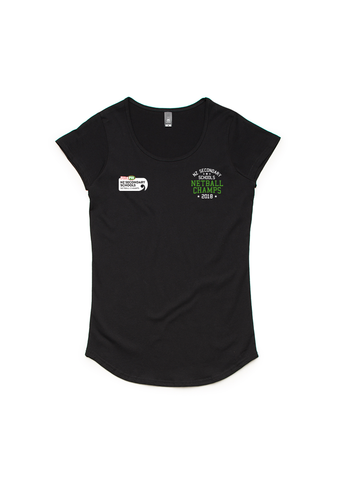 NNZ Secondary Schools Champs Womens Black Scoop Neck Tee