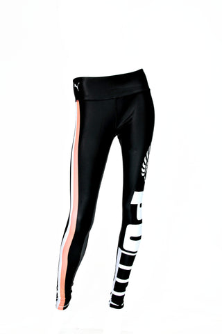 Puma Silver Ferns Youth Training Tights (Black/Peach)