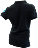 Silver Ferns Ladies Polo - Black
