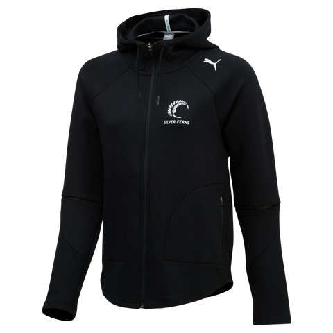 Puma Silver Ferns FZ Hooded Jacket (Black)