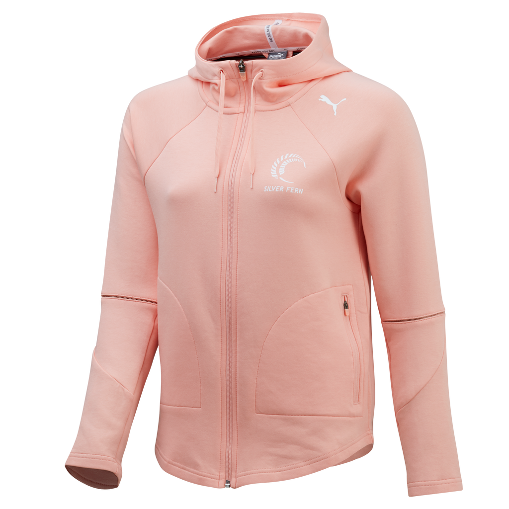 Puma Silver Ferns FZ Hooded Jacket (Peach)