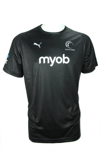 Puma Silver Ferns Mens Match T-shirt (Black)