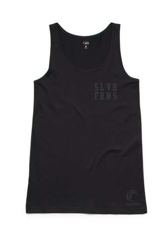Silver Ferns Logo Womens Black Singlet