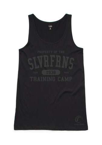 Silver Ferns Training Camp Womens Black Singlet