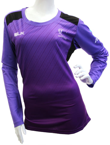 Silver Ferns Ladies Long Sleeve Training Tee - Grape