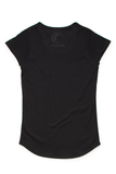 Silver Ferns Scrubbers Black Scoop Tee