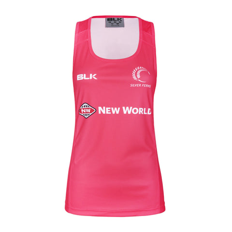 Silver Ferns Ladies Training Singlet - Melon
