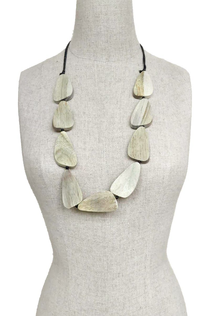 Mango Wood Sandstone handmade Necklace