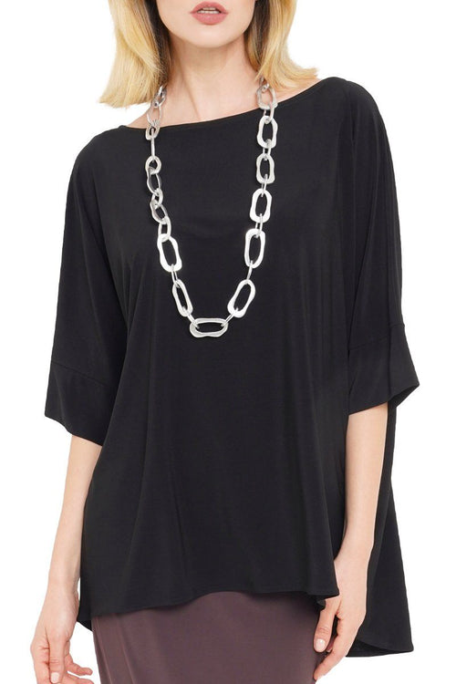 Janice Top Oversized Women's Black Top
