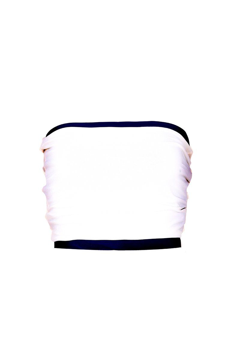 Women's White Tube Top Rosarini