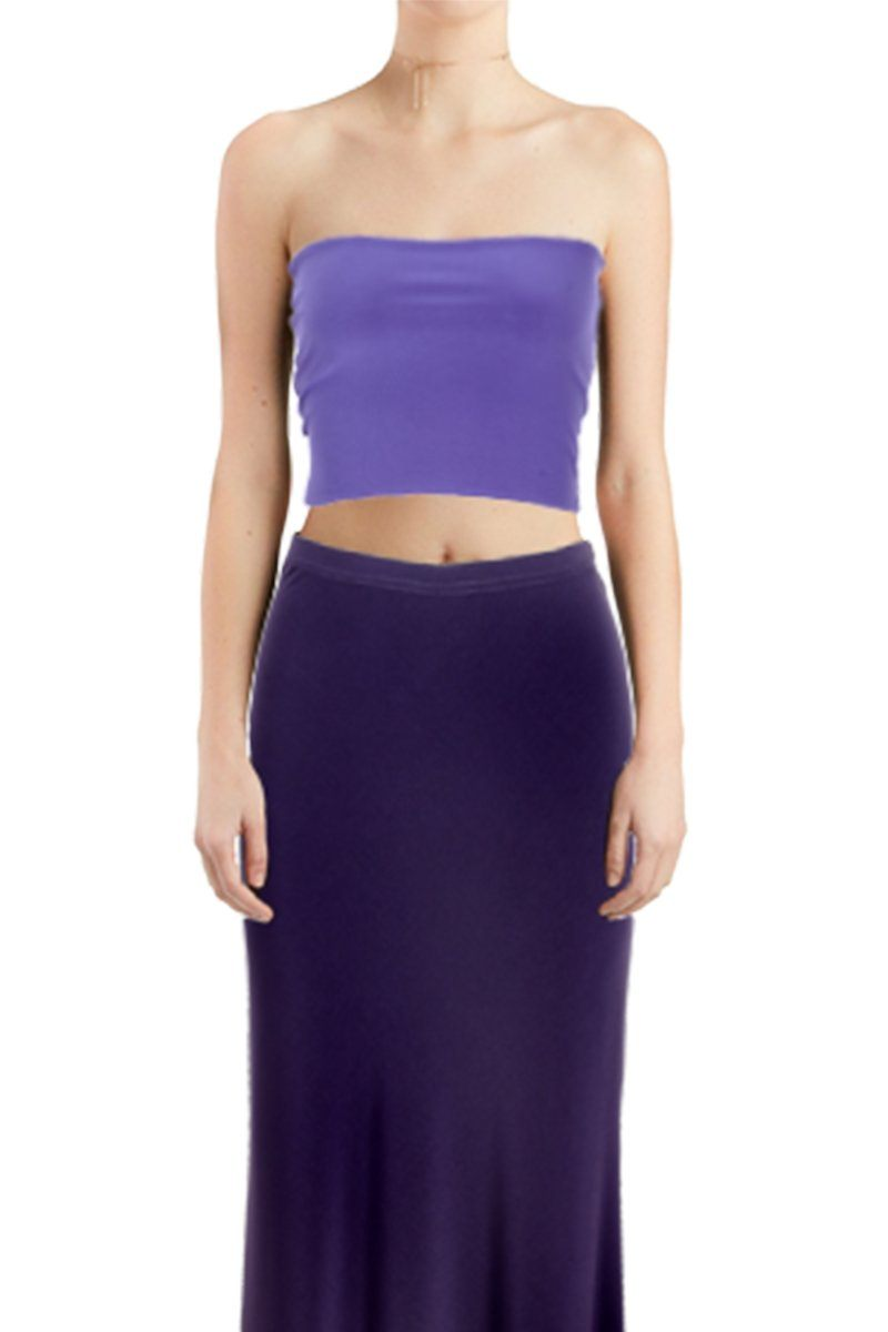 Women's Dusty Blue Tube Top Rosarini