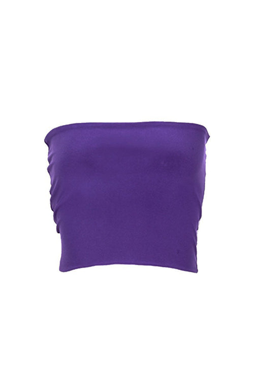 Women's Purple Tube Top Rosarini