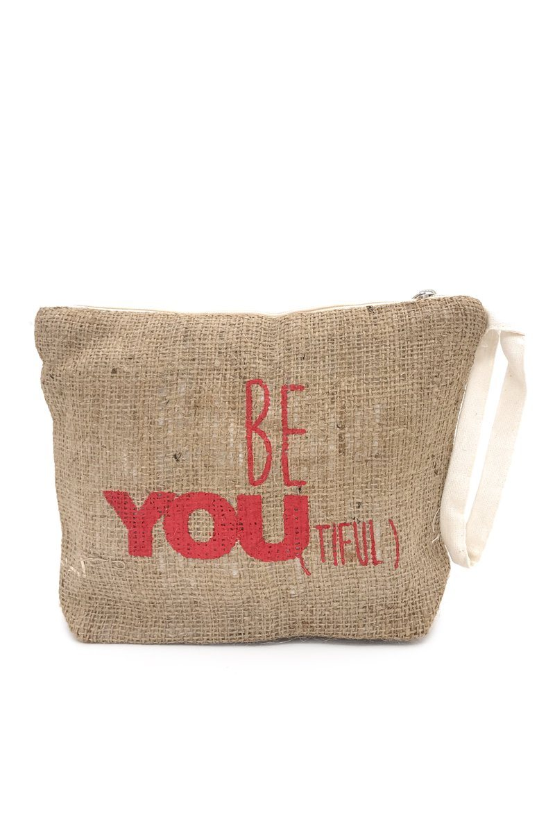 Be You Tiful Woven Pouch - Women's Clothing -ROSARINI