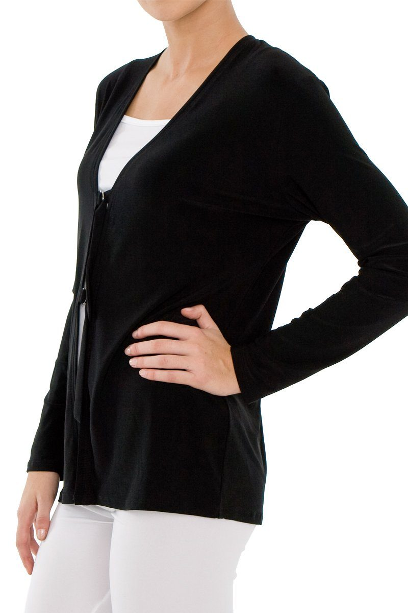 Women's Black D-Ring Cardigan Rosarini