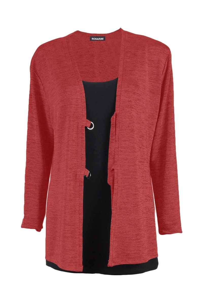 Women's Red D-Ring Cardigan Rosarini