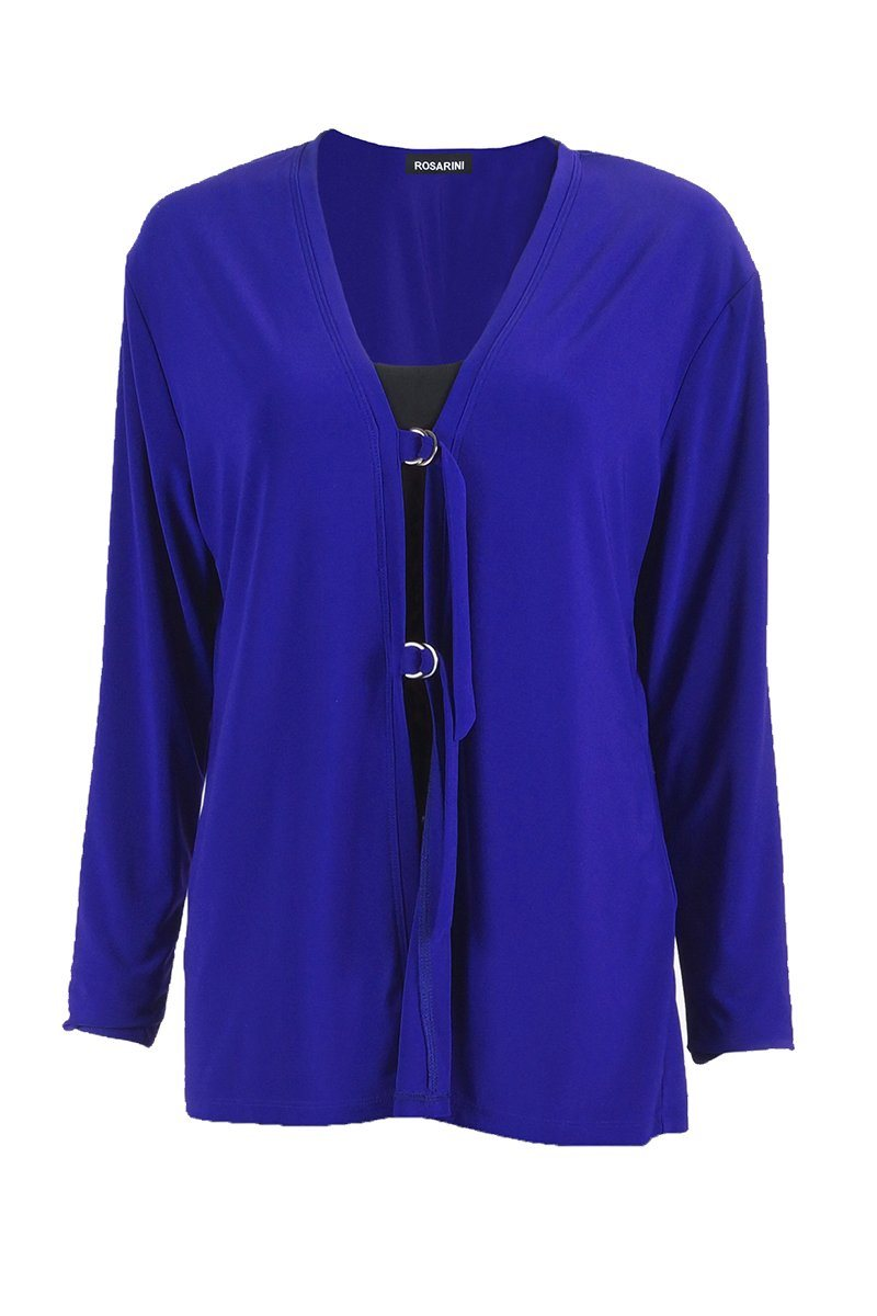 Women's Blue D-Ring Cardigan Rosarini