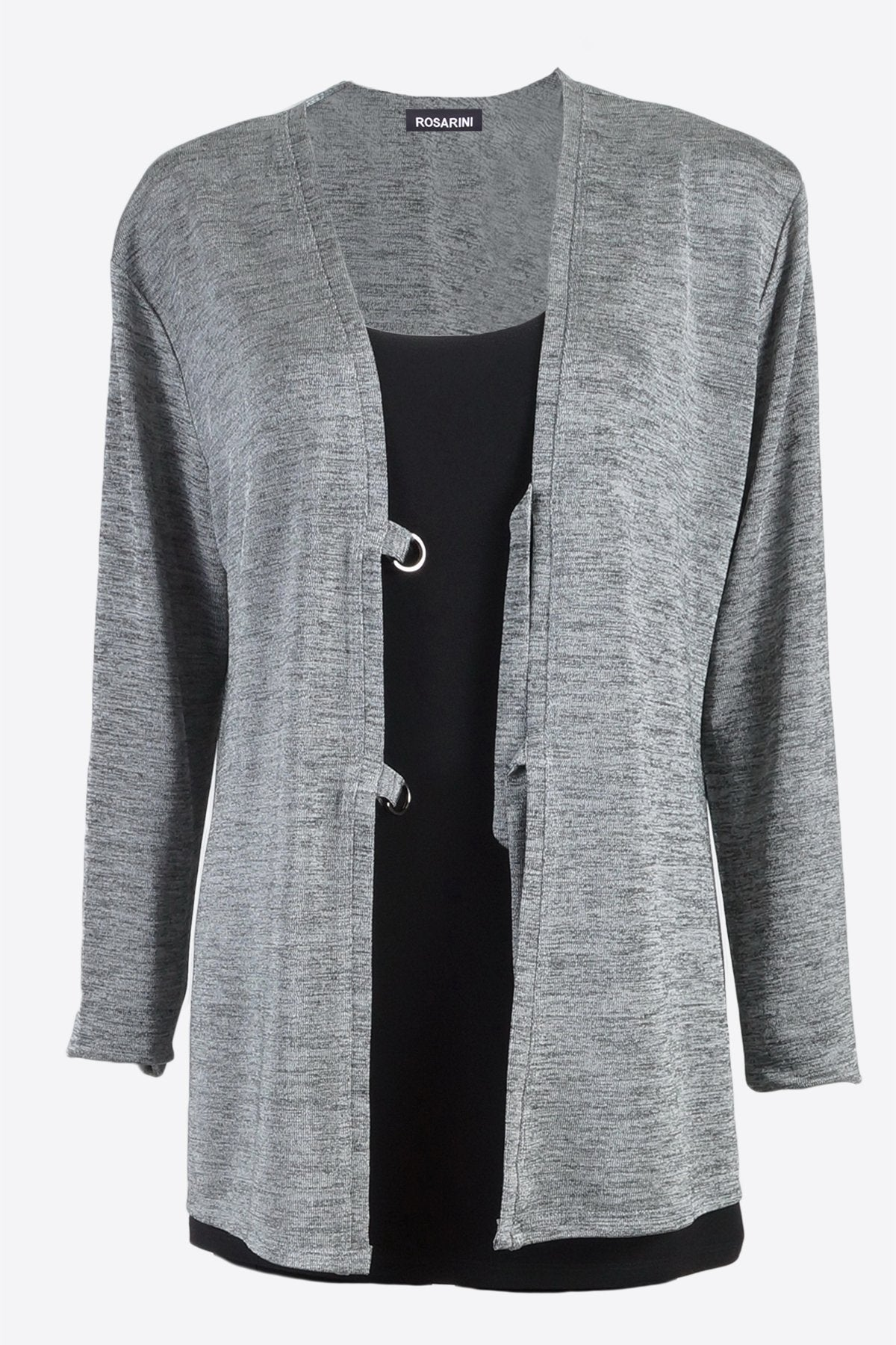 D-Ring Cardigan Slinky Grey