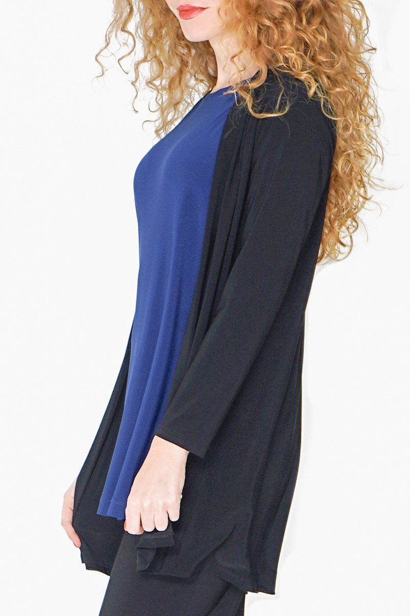 Women Mid Length Open Front Cardigan