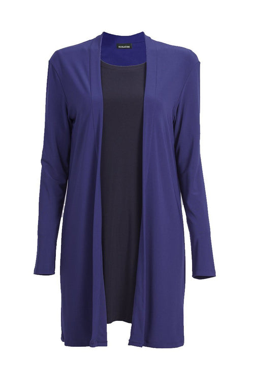 Women Open Front Mid Length Cardigan