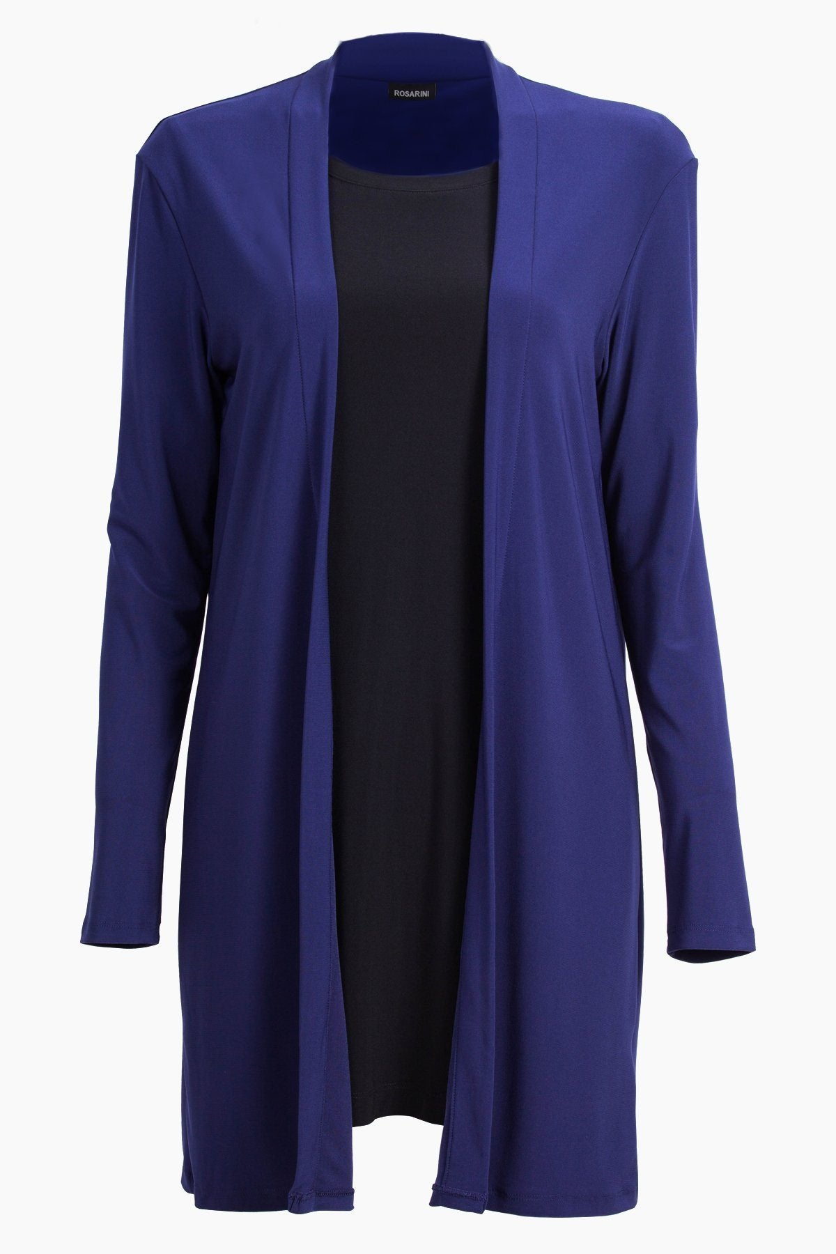 PLUS SIZE Long Sleeve Mid Length Cardigan navy