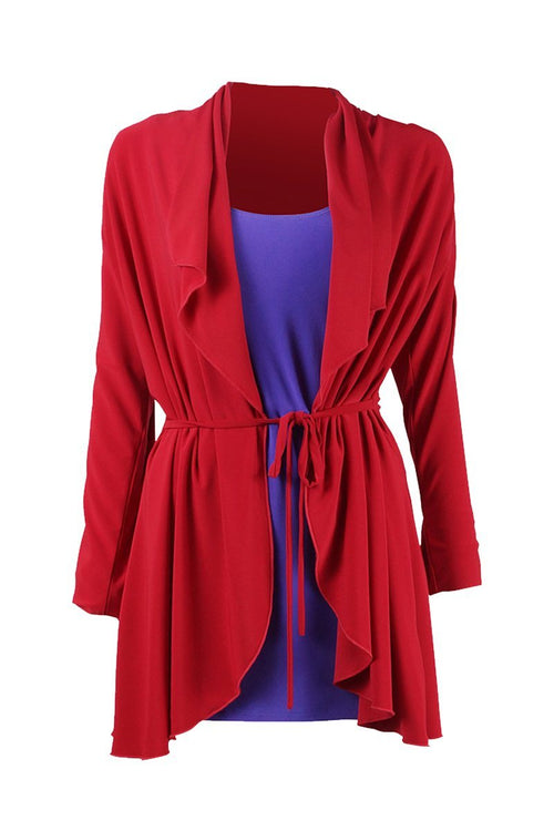 Waterfall Cardigan - Women's Clothing -ROSARINI