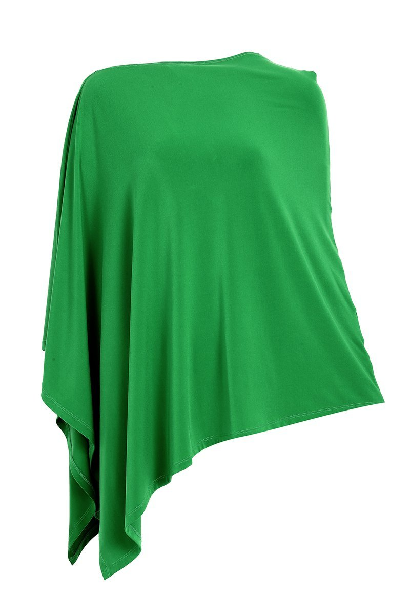 Women Green Jade Poncho