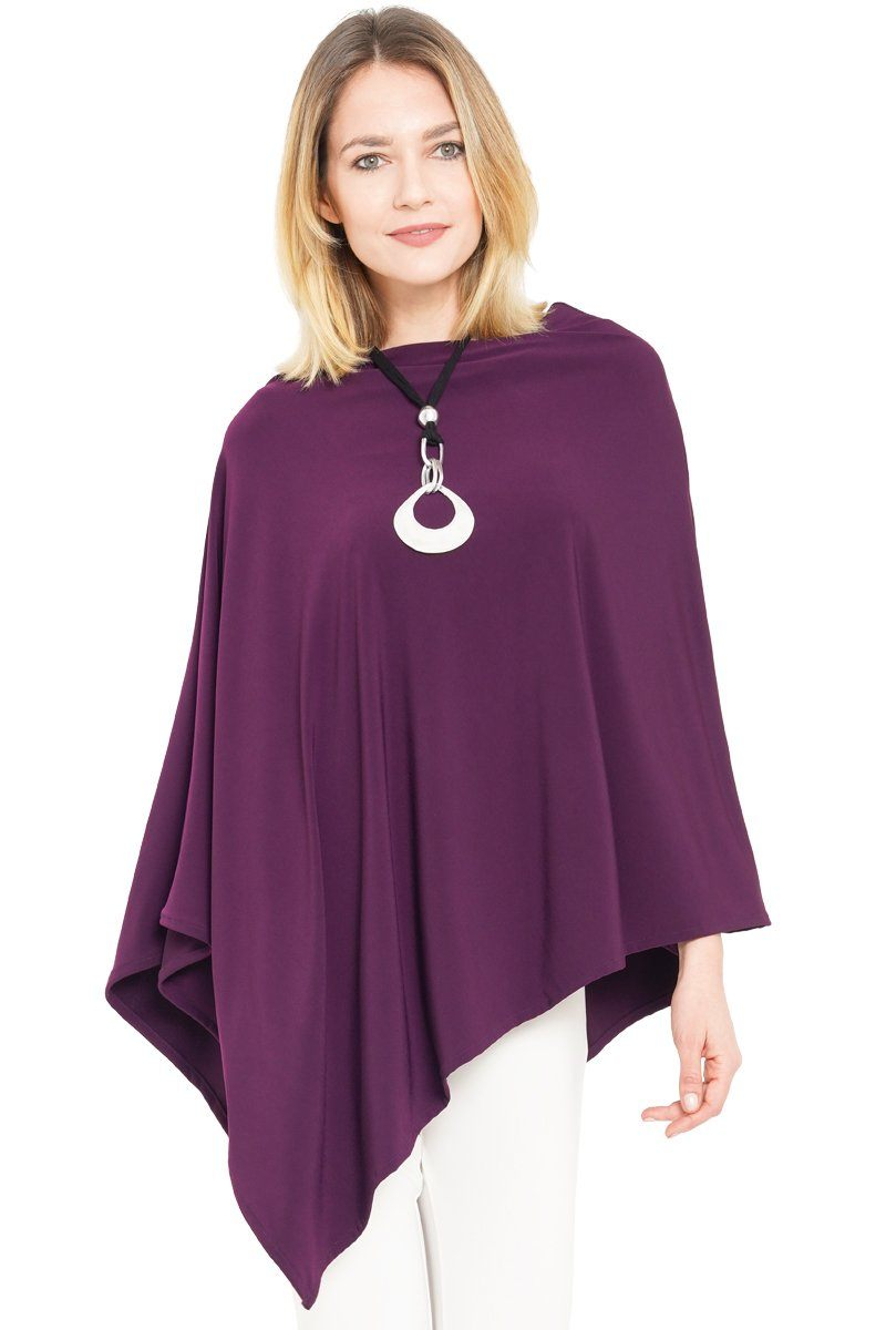 Women's Wine Poncho