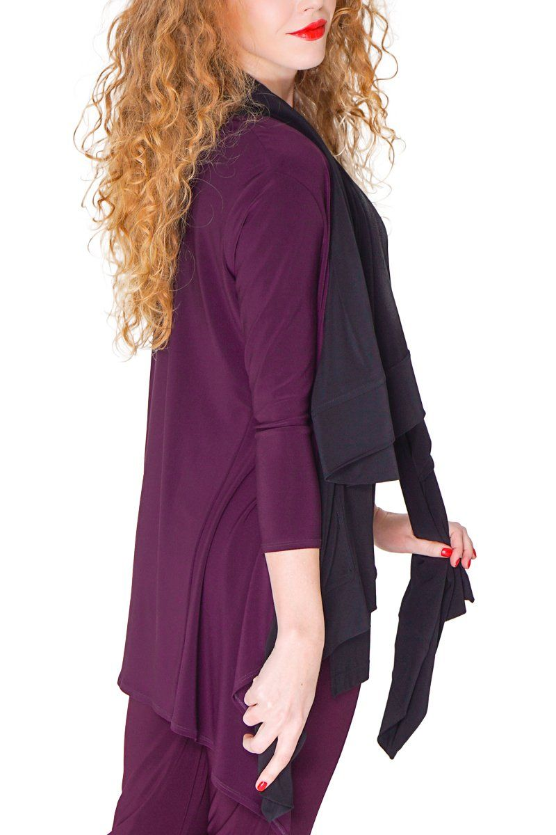 Short Contour Cardigan Wine