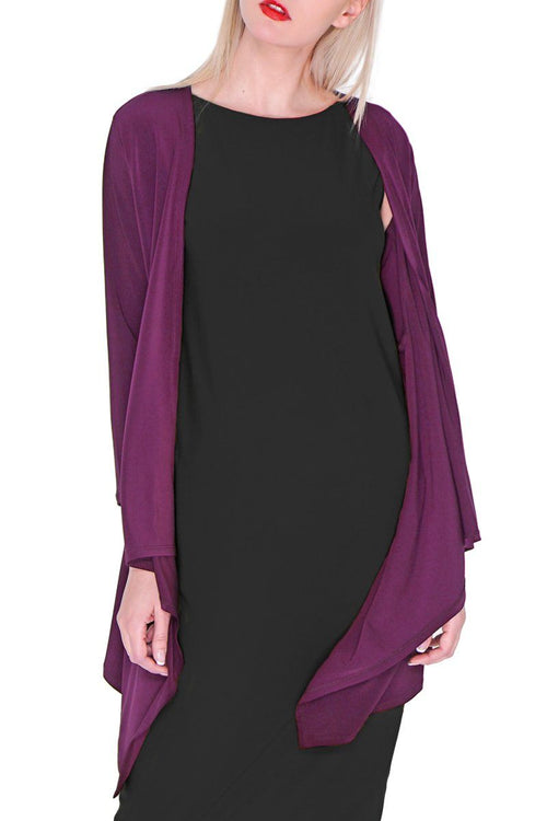 Long Contour Cardigan Wine
