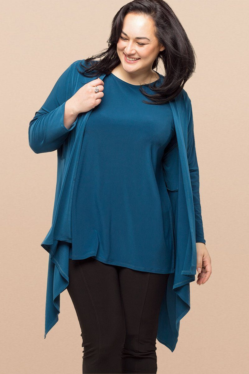 Plus Size Long Sleeve Layering Cardigan