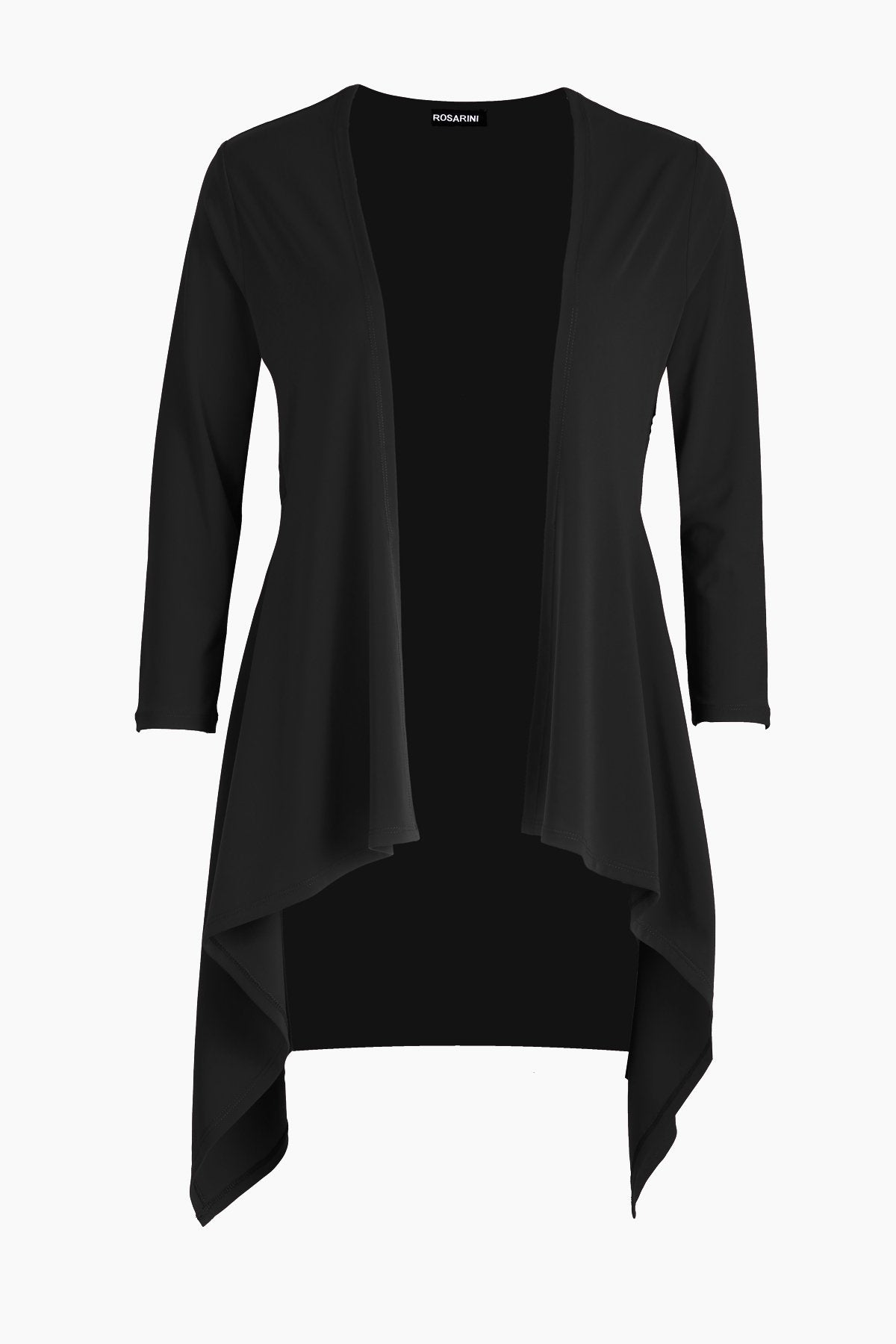 PLUS SIZE Long Flyaway Cardigan black