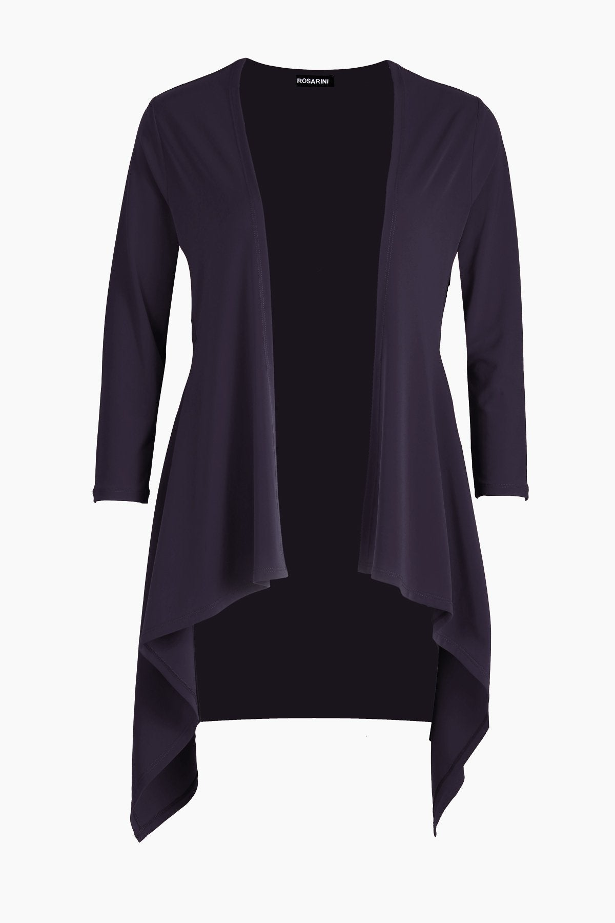 Women's Black Long Sleeve Contour Cardigan Rosarini
