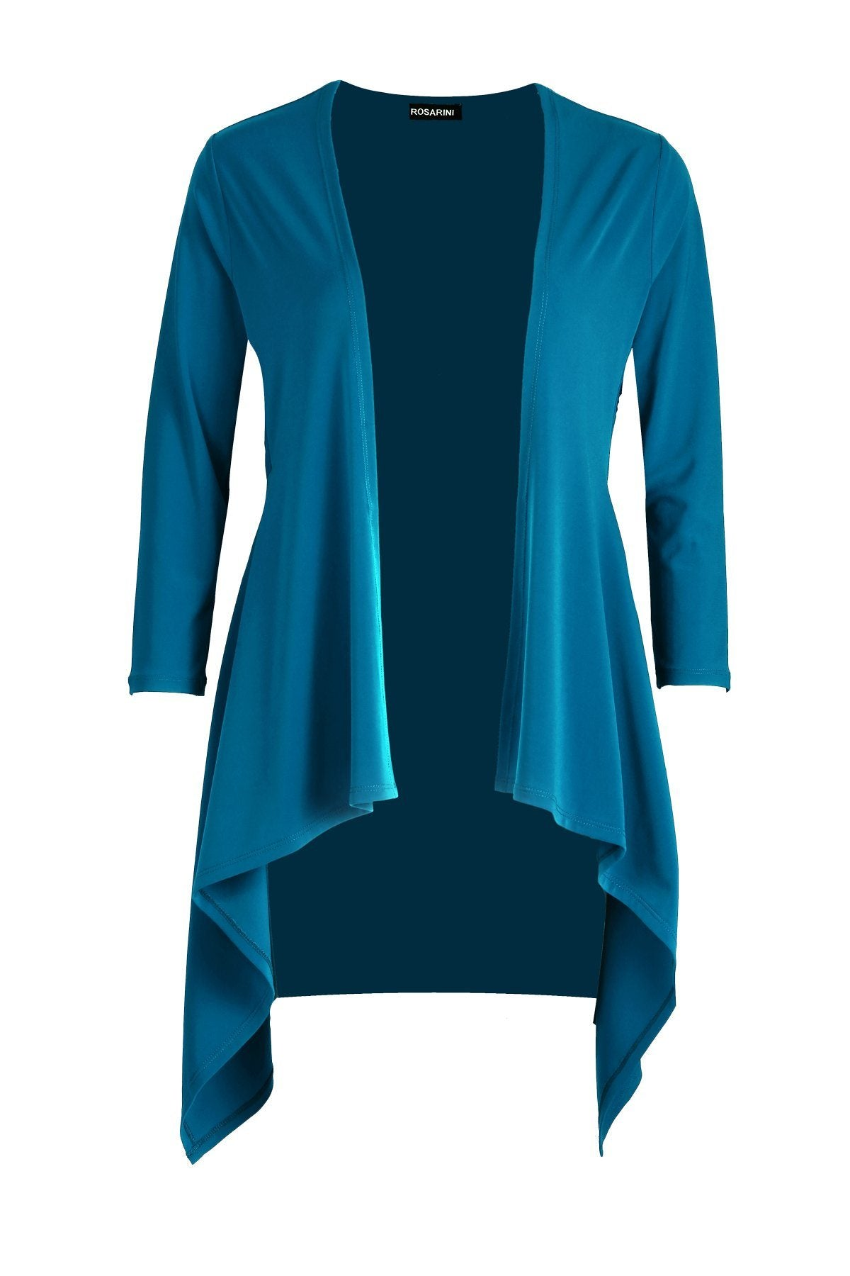 Women's Teal Long Sleeve Contour Cardigan Rosarini