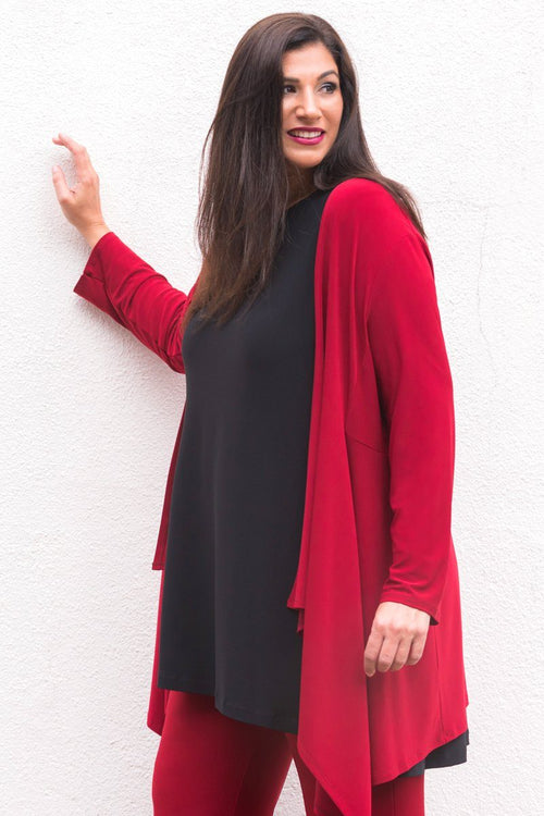 Long Contour Cardigan (Plus Size) - Women's Clothing -ROSARINI