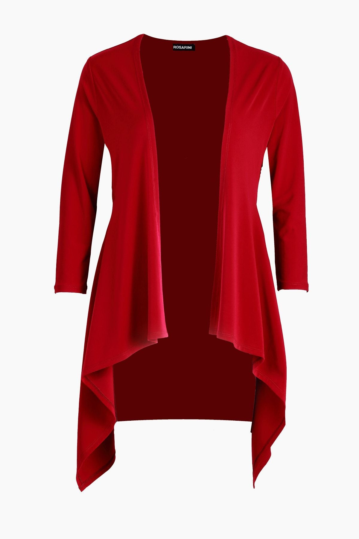 Women's Red Long Sleeve Contour Cardigan Rosarini