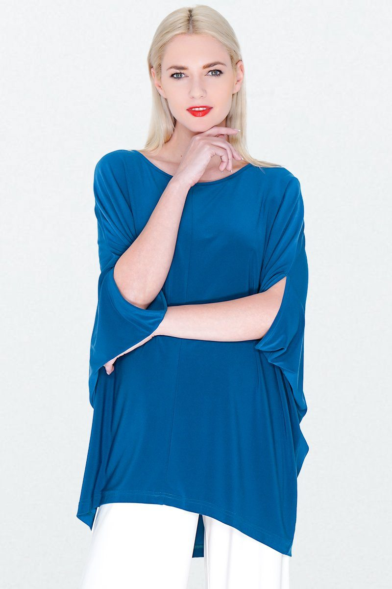 Women's Oversize Batwing Overall Poncho