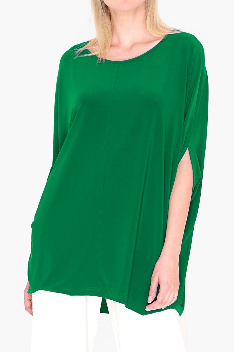 Short Sleeve Oversized Overall Poncho Jade