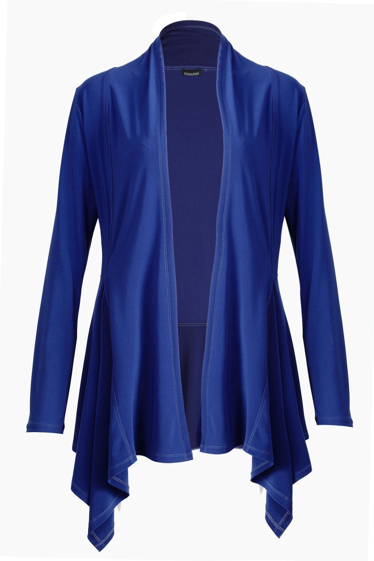 Women's Blue Long Sleeve Long Edge Cardigan Rosarini