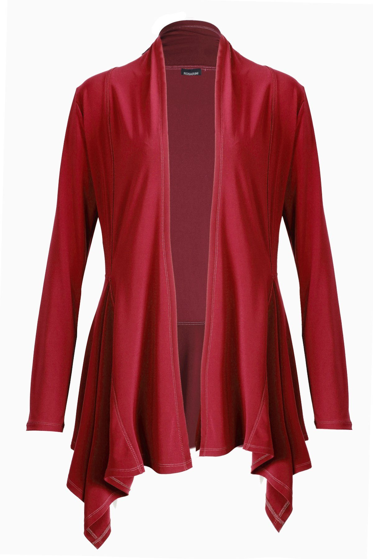 Women's Red Long Sleeve Long Edge Cardigan Rosarini