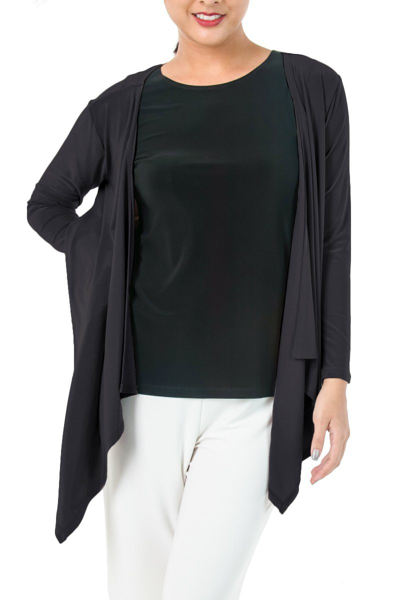 Women's Black Layering Long Sleeve Cardigan Rosarini