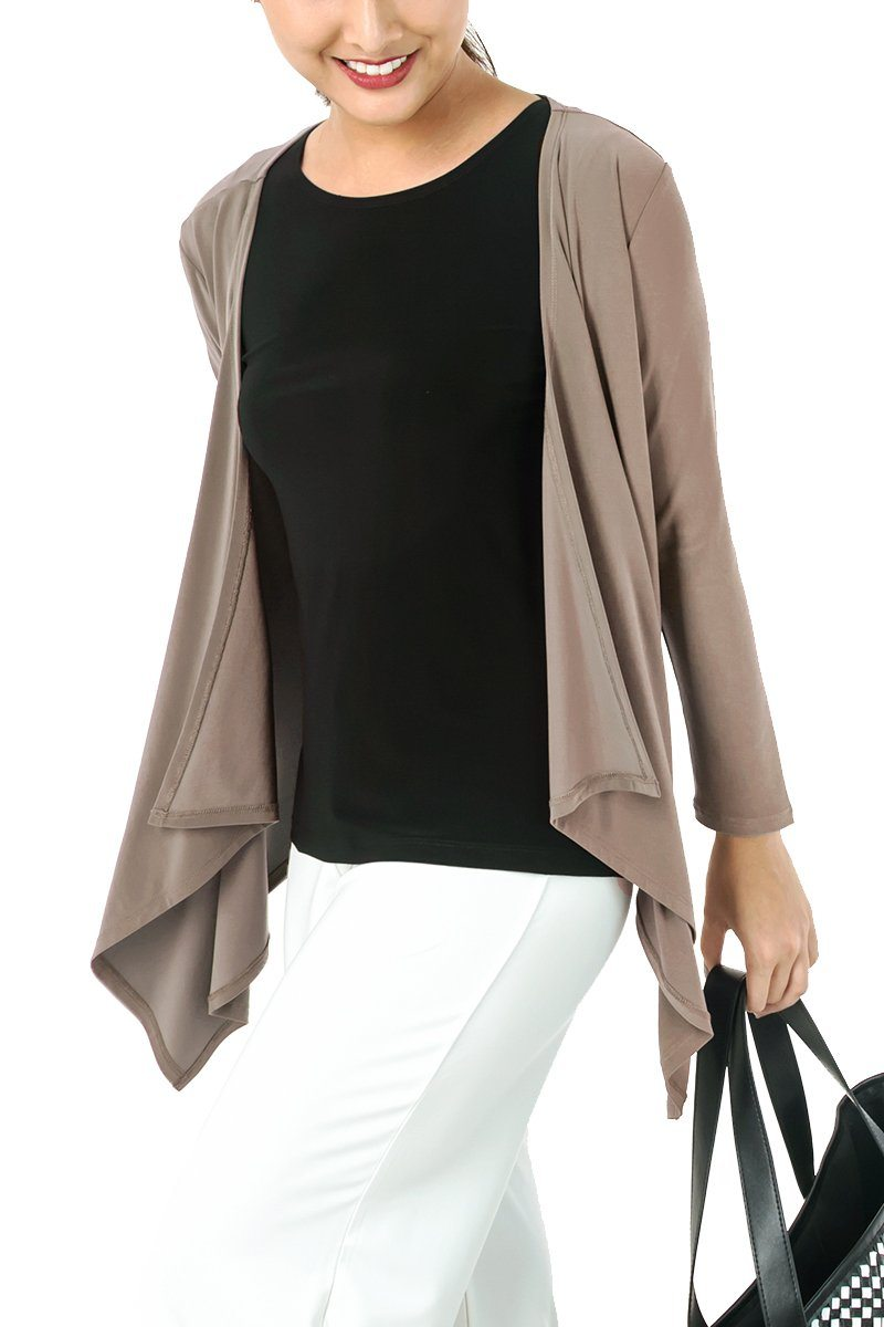 Women's Long Sleeve Open Layering Cardigan