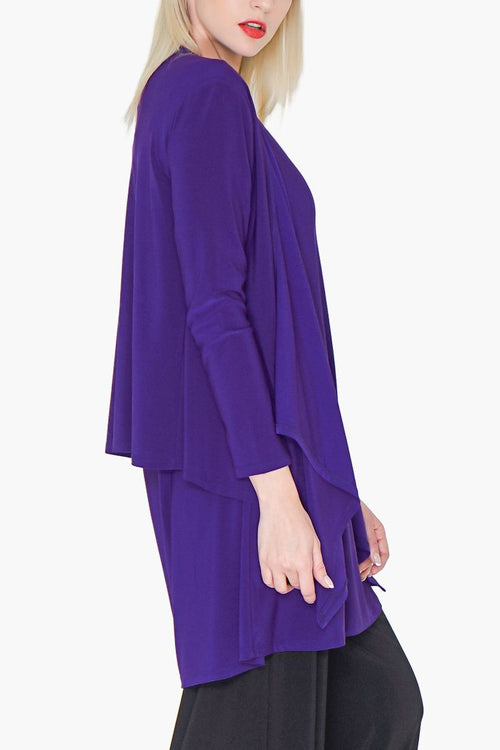 Women's Bright Purple Layering Cardigan