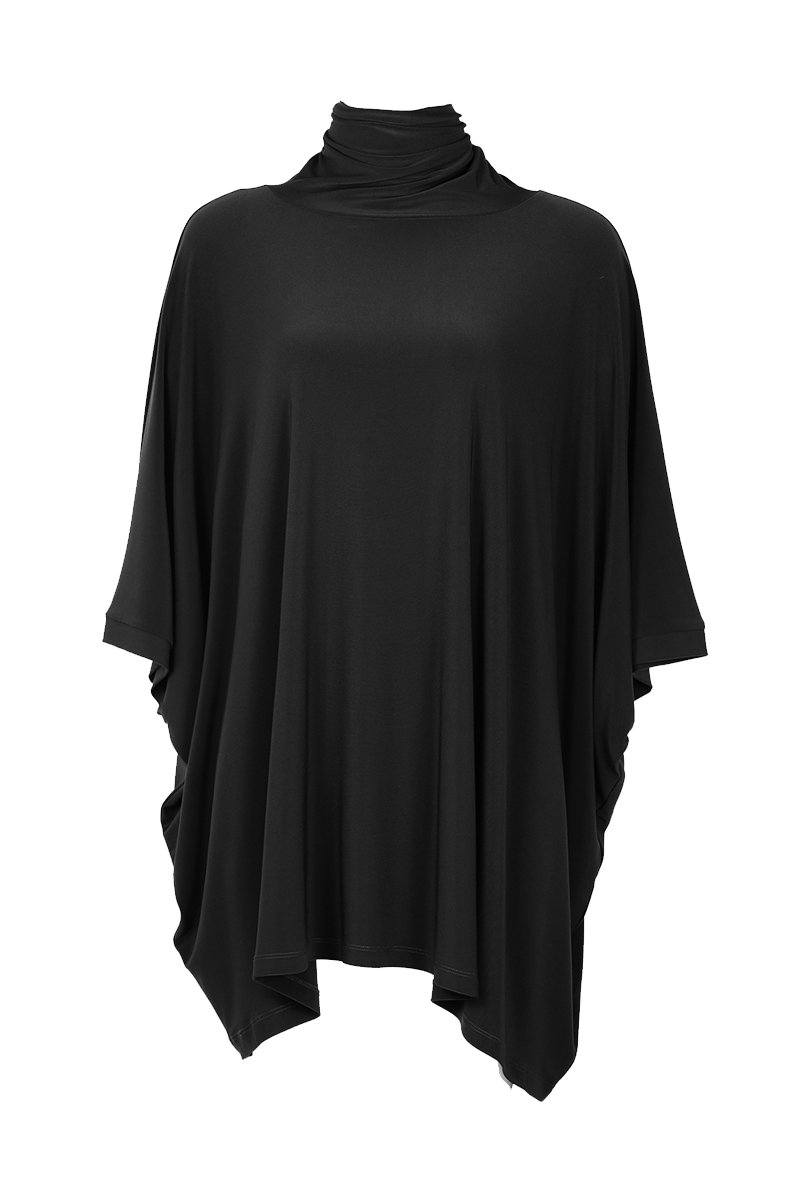 High Neck Poncho
