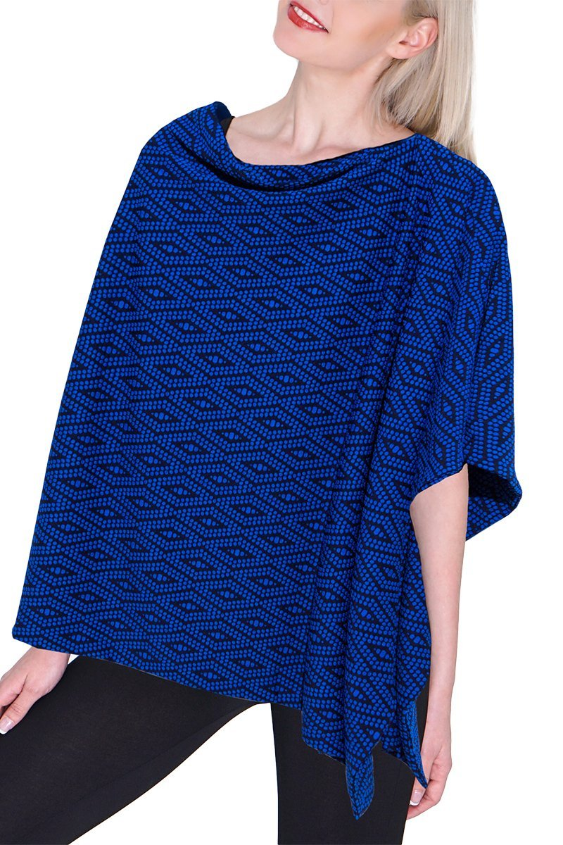 Aztec Poncho - Reversible - Women's Clothing -ROSARINI