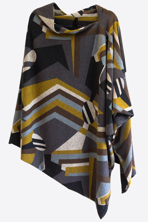 ABSTRACT PONCHO - DOUBLE SIDED