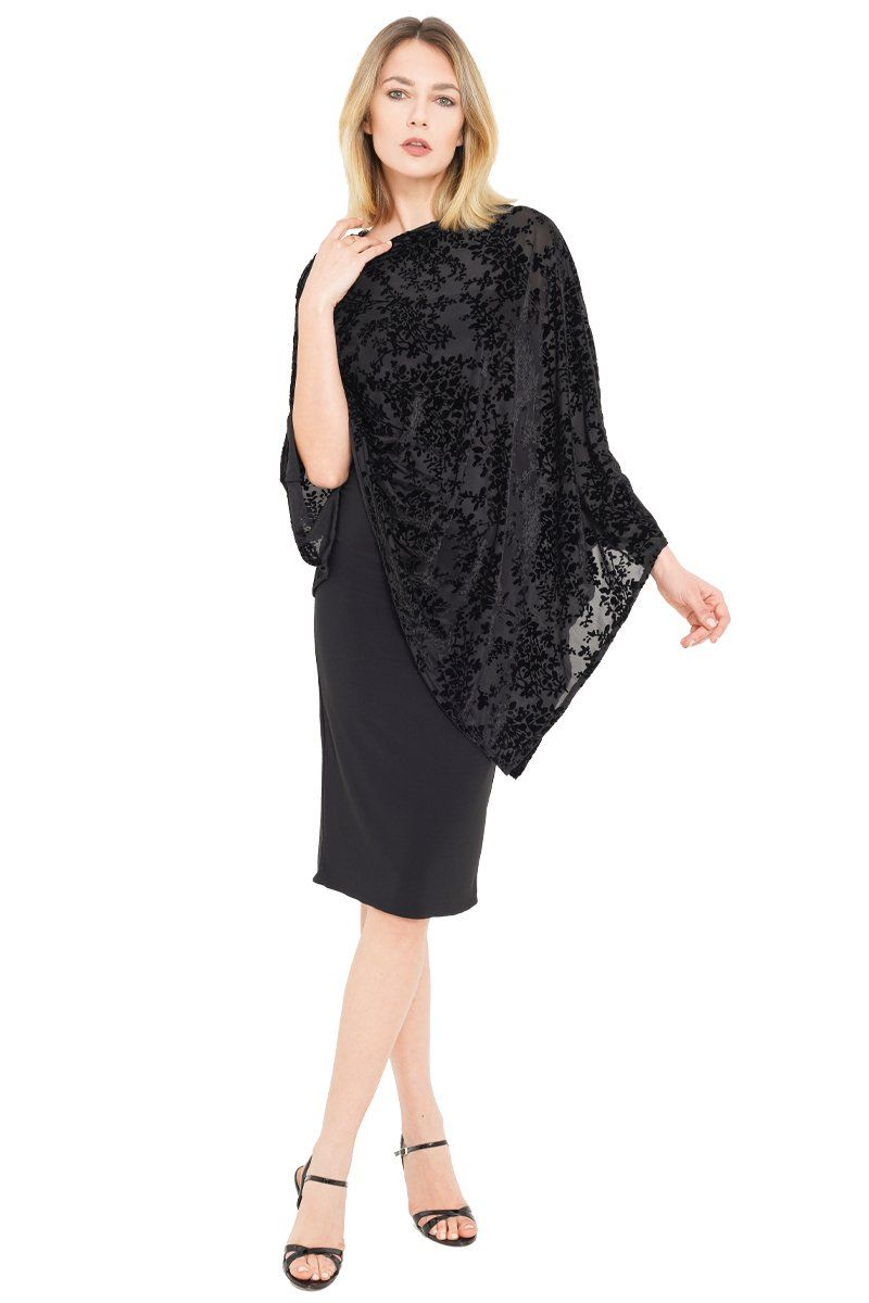 Ice Velvet Poncho - Single Sided