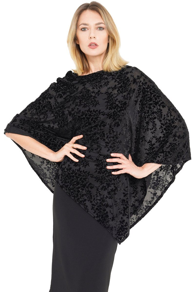 Ice Velvet Poncho - Single Sided - Women's Clothing -ROSARINI