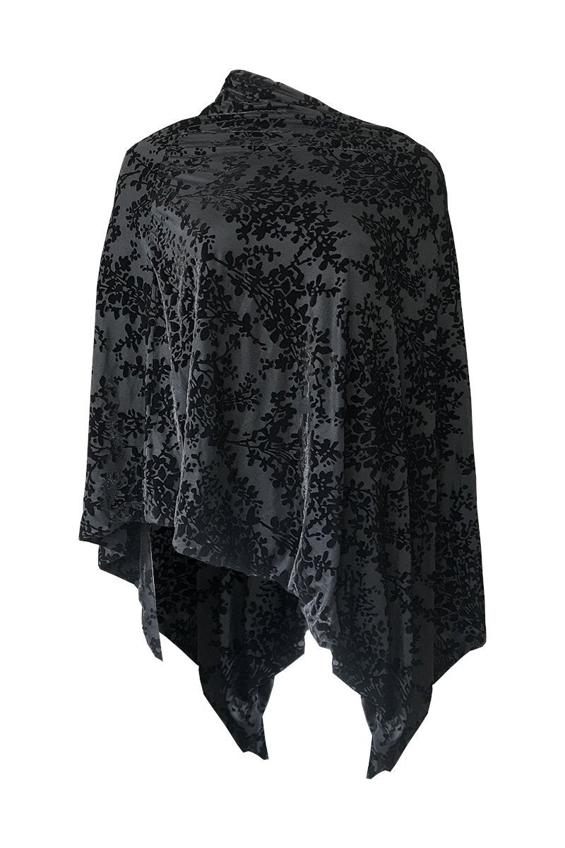Ice Velvet Poncho - Double Sided - Women's Clothing -ROSARINI