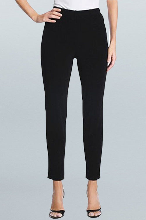 Women's Black Cropped Pants Rosarini