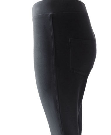 Women's Black Cropped Pocket Pants Rosarini